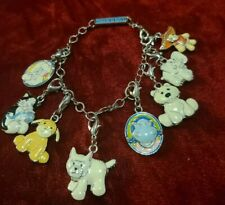 Adorable Webkinz Charm Bracelet w/7 Charms Silver Tone 1999 Cat, Puppy,Dog,Etc.