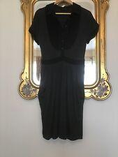 PENNY BLACK Grey & Black Two Pocket  Jersey DRESS Size M