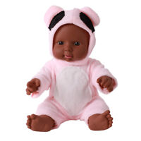 "12"" Toddler Newborn Baby Boy Doll Black African Ethnic Cute Infant - Pink"