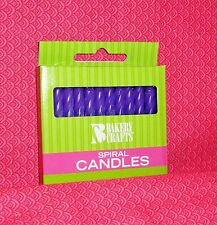 Purple ( Violet ) Birthday Cake Candles,24 count Bakery Crafts,Party,Spiral