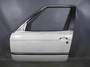 BMW E30 3-Series 4door Sedan Left Front Drivers Door Shell Alpine White 85-91