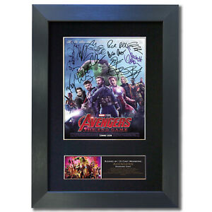 AVENGERS END GAME Signed Mounted Reproduction Autograph Photo Prints A4 810