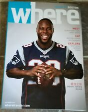 James White New England Patriots Cover Where Magazine October 2017 NEW