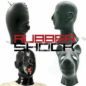 RUBBER SHOCK Latex Maske hochwertige Gesichtsmaske für Bondage BDSM Fetisch