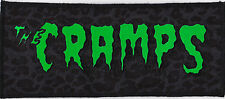 HORROR GREEN & BLACK CRAMPS PATCH PSYCHOBILLY GARAGE PUNK LUX GREY LEOPARD