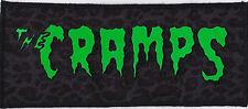 HORROR GREEN & BLACK CRAMPS PATCH PSYCHOBILLY GARAGE PUNK LUX GREY LEOPARD