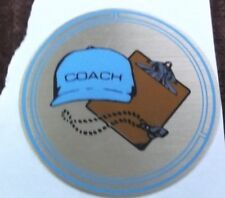 """wholesale lot of 27 COACH  trophy parts blue hat mylar 2"""" diameter"""