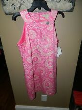 Michael Kors Shocking Pink Floral Lined Dress Womens Size 12