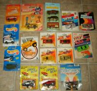 18 HUGE VINTAGE LOT OF HOT WHEELS MATCHBOX ZEE DYNA WHEELS DIECAST CARDED CARS