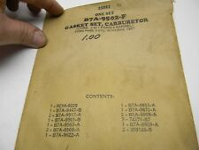 NOS 1957 58 FORD 312 CU IN 4V V8 CARBURETOR Rebuild GASKET KIT B7A-9502-F