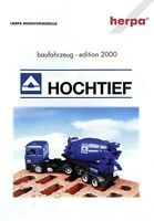 Herpa Baufahrzeug Edition Hochtief 2000 Prospekt D+GB Modellautos brochure model