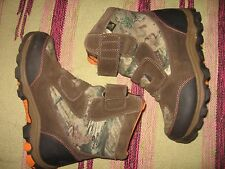 BOYS 3 M ROCKY RAM CAMO HUNTING BOOTS BROWN 800g 3M Thinsulate ULTRA VELCRO