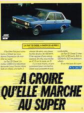 PUBLICITE ADVERTISING 104  1980  FIAT 131 DIESEL