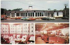 ROADSIDE FREEHOLD NEW JERSEY ROUTE 9 TROTTERS & PACERS DINER VINTAGE POSTCARD
