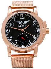 Minoir Uhren - Modell Corbie rotgold / braun - Automatikuhr, Herrenuhr