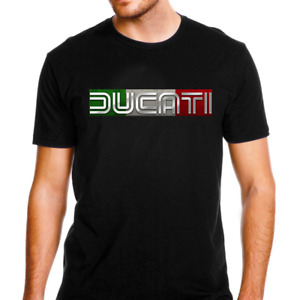 Genuine Ducati Motorcycle Superbike Italy Corse Streetware Black Men Tee T-Shirt