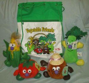 Toy Box Creations Vegetable Friends Plush 4 Veggies Backpack Bag 1996-1997