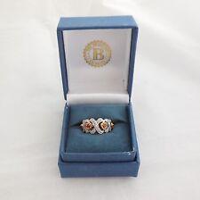 The Bradford Exchange 14k Gold Diamond Ruby Heart Ring - Love Always Hugs Kisses