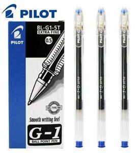 Pilot G-1 Gel Pens 0.5mm Tip Blue Ink PACK OF 3