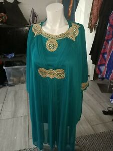 Dubai Morocco Girls Kids Farasha Dress two in one Size 32 fit waist up to 32Rins