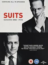 Suits - Season 1-5 [DVD] [2015] New Sealed UK Region 2 - Gabriel Macht