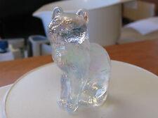 Lovelt Mosser Glass USA Iridescent Carnival Cat