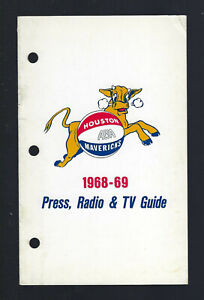 VINTAGE 1968-69 ABA HOUSTON MAVERICKS MEDIA PRESS GUIDE YEARBOOK