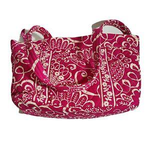 Vera Bradley Mandy Shoulder Bag Twirly Birds Dark Pink