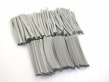 "170PCS Pro-kit 4"" shrinkable ratio 2:1 Heat Shrink Tubing Sleeve 7 Sizes Grey"