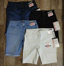"NEW Jeans shorts BERMUDA Skinny stretchy women ""modern"" High Waist d.Jeans"