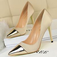 Women's Sexy Pointed Toe Stilettos High Heel Splicing Bridal Club Wedding Pumps
