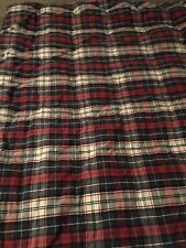 Tommy Hilfiger Plaid Red White Blue Full Size Stripe 2pc Comforter & Pillow