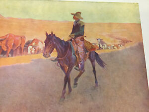"""1906 ARTIST'S PROOFS -- 6 REMINGTON PAINTINGS IN COLOR each is 17 1/2 x 23 1/2"""""""