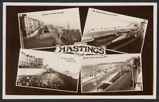 Sussex Hastings. The New Hastings Parade. 4 Image Multi-View Real Photo Postcard