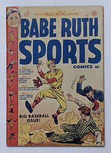 Babe Ruth Sports #2 (Just in 1949, Harvey) VG/FN 5.0 Bob Powell art