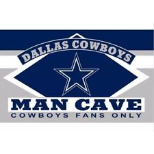 Dallas Cowboys Man Cave Flag 3' x 5' Banner Metal Grommets New