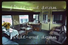 Original Slide - ATSF Santa Fe Director's Special Business Car 50 Interior 1979