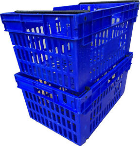 Bale Arm Crate 600x400x300 Plastic Containers  (Pack of 5)