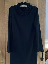 Womens Diane Von Furstenberg Black Dress SIZE UK 12 US 8