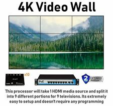 3x3 4K Video Wall HDMI Processor IP PoE Network HDTV 1080p Controller Splitter