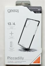 """Gear4 Piccadilly Series Case for Samsung Galaxy Note 10 Plus + 6.8"""" Clear/Black"""