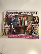 Kittens & Puppies Super Stationery Set Stickers, Crayons, Pouch, Markers