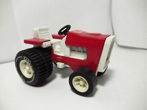 """Tonka Vintage 1960's 1970's Pressed Steel Red Toy Lawn Tractor Riding Mower 4.5"""""""