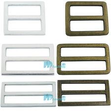 """Metal Adjustor Slides Leather Belt strap Webbing Buckles 1"""" 1.5"""" 2""""  25 38 50mm"""