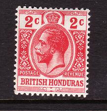 BRITISH HONDURAS 1913-21 2c RED SG 102 MNH.