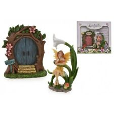 FAIRYLAND FAIRY DOOR FIGURINE COLLECTABLE ELF PIXIE GARDEN ORNAMET TREE HANGING