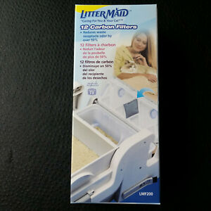Litter Maid 12 Replacement Cat Litter Box Carbon Filters LMF200