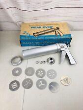Vintage Wear-Ever Cookie Gun Press in Original Box Decorating Cookies Baking