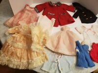 Vtg Doll Dress Hat Outfit, Coats, Undies Lot  Antique German French Bisque 11Pc