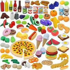 135pcs Corte de Frutas y Alimentos Verduras Pizza Juego de Plástico para